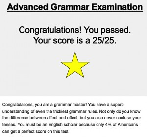 advanced grammar test