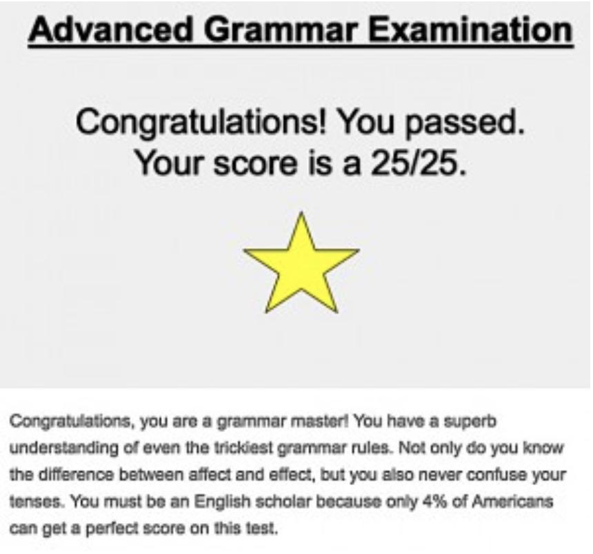 MBA grammar test